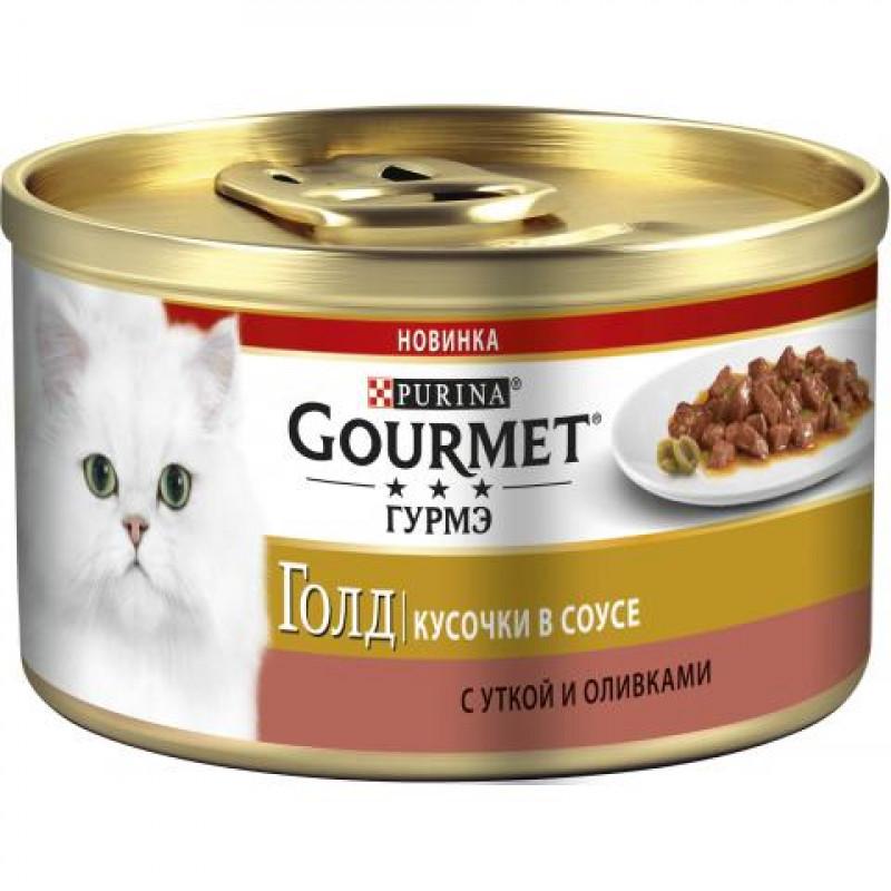 Влажный корм GOURMET GOLD утка с оливками, 85гр