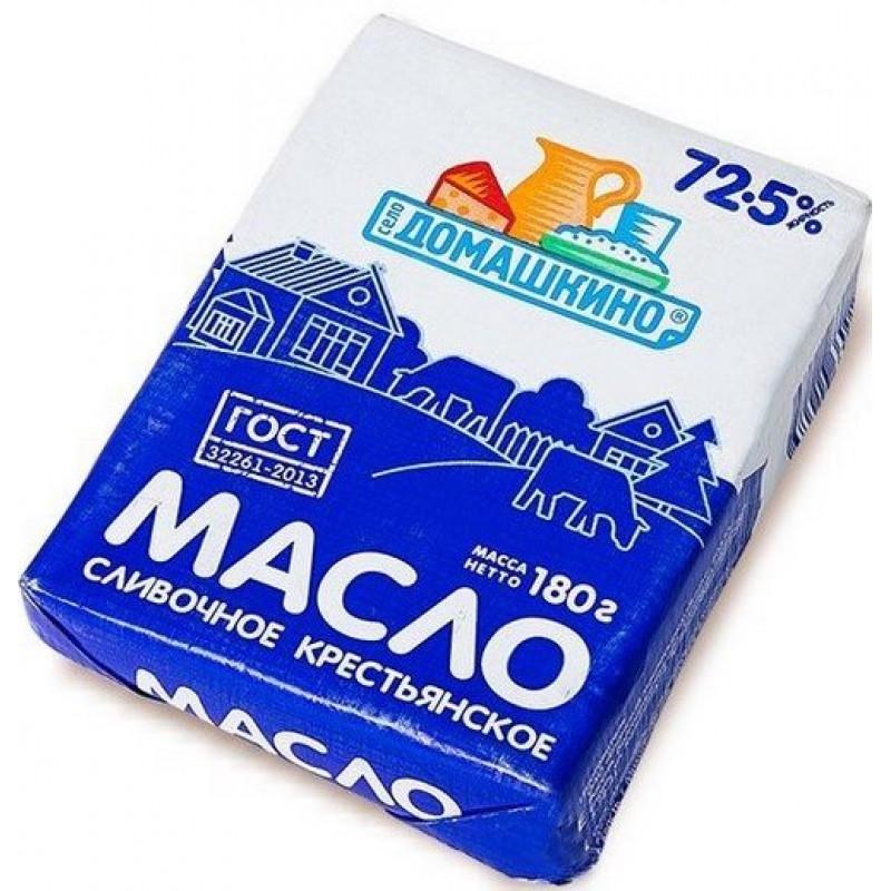 Масло 72, 5% сладкосливочное несоленое Село Домашкино, 180гр.