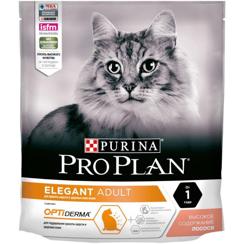 Корм для взрослых кошек с чувствительной кожей лосось, 400 гр