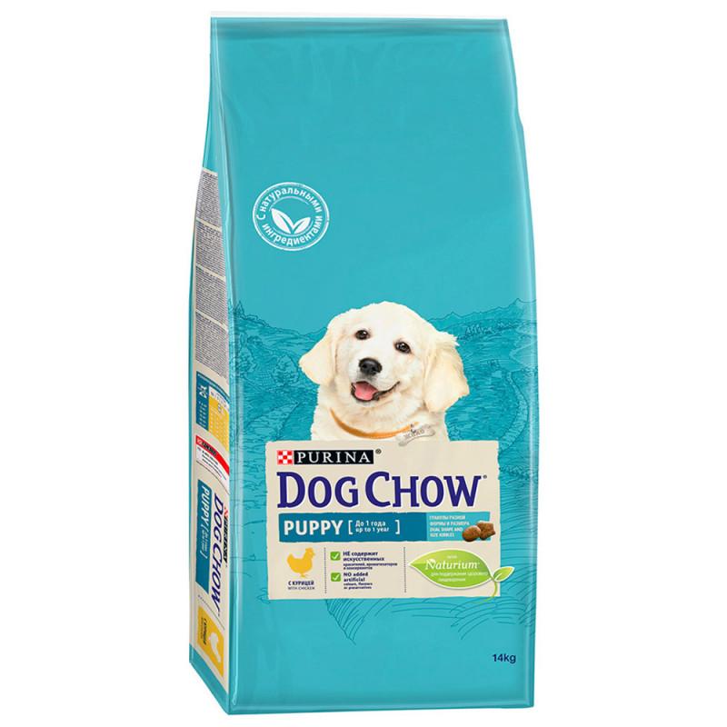 Корм схой Dog Chow puppy с курицей и рисом, 14кг