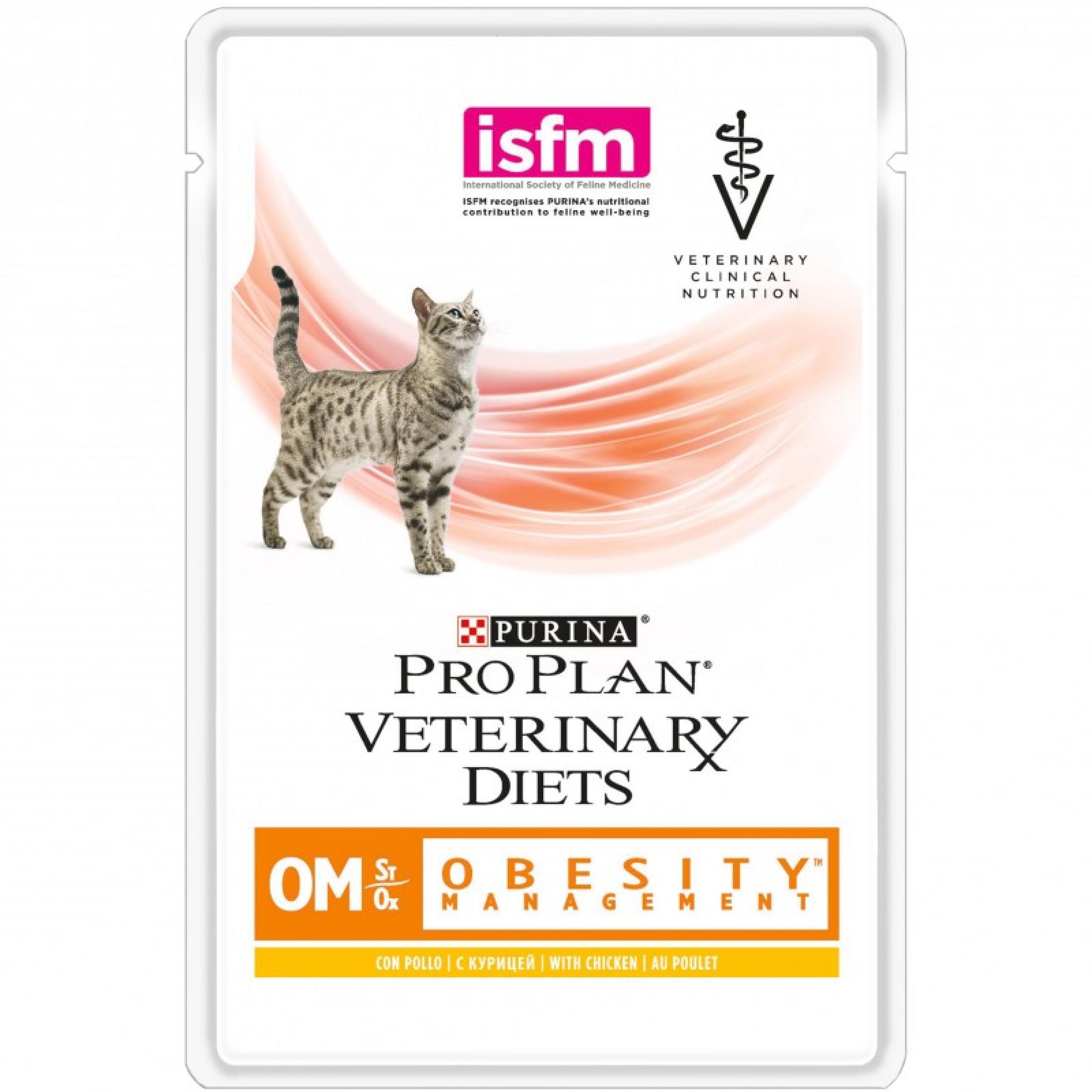 """Влажный корм для кошек лечение ожирения """"Purina Pro Plan (вет. корма)"""" ОМ, 85гр"""