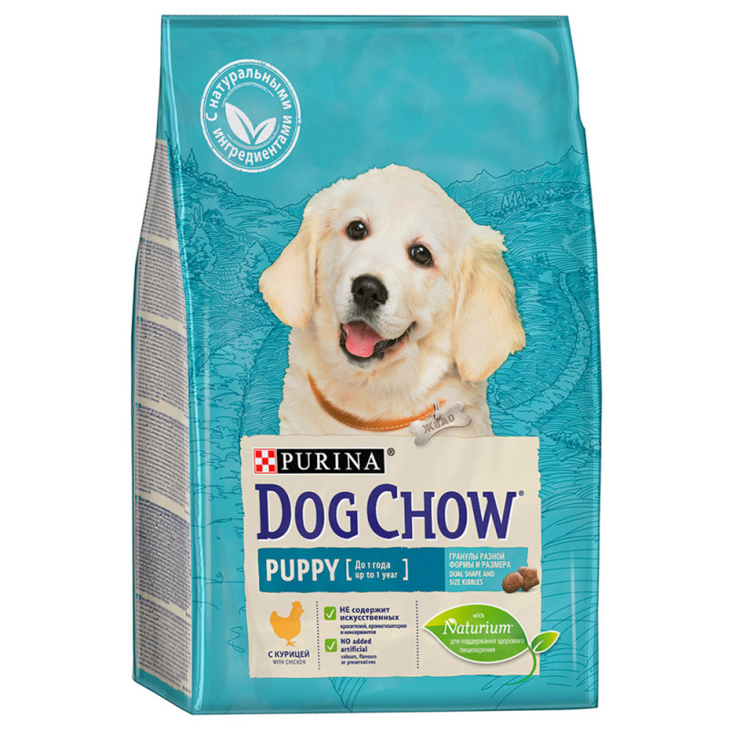 "Корм сухой для щенков ""Dog Chow"" с курицей, 2, 5 кг"