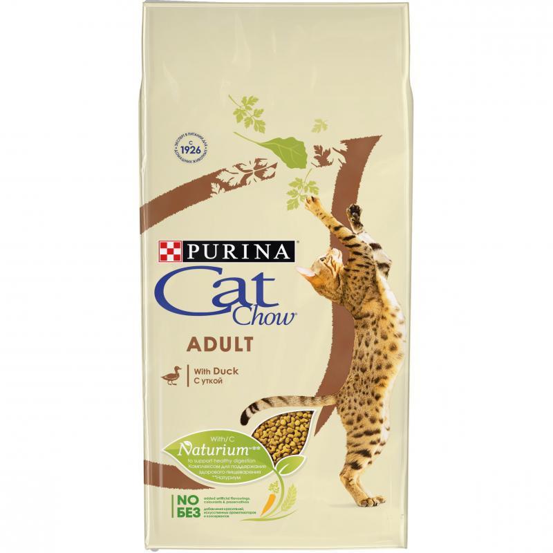 Корм CAT CHOW ADULT утка, 7кг