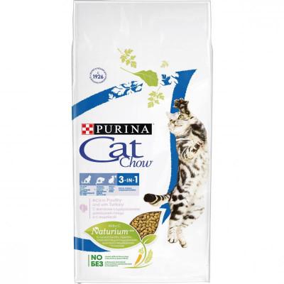 Корм CAT CHOW FELINE 3в1 птица-индейка, 7кг