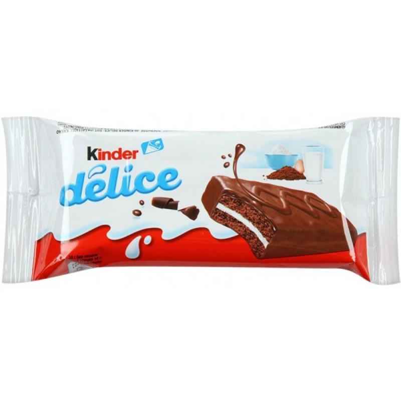 Пирожное бисквитное KinderDelice с молочной начинкой в какао глазури, 39 гр