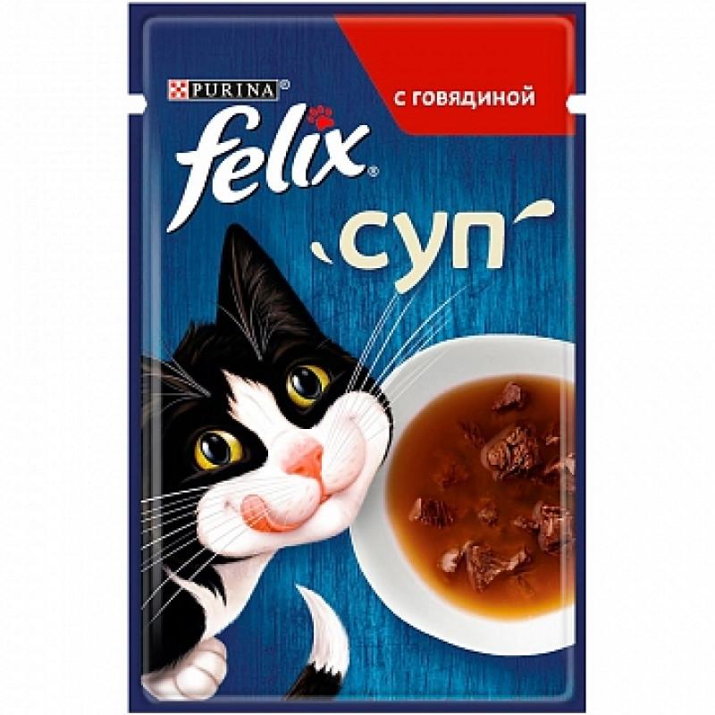 Суп Felix с говядиной, 48г