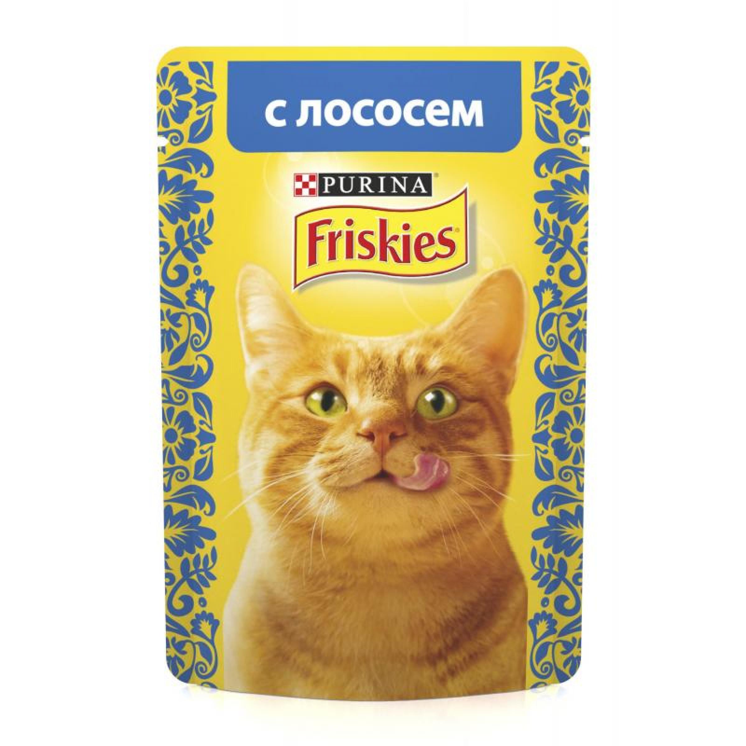 Корм Friskies для кошек, лосось в подливе, 85г