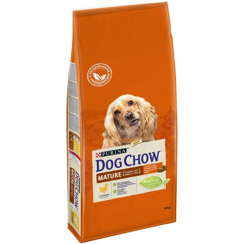 "Корм ""DOG CHOW"" для взрослых собак от 5 лет, курица, 14кг"