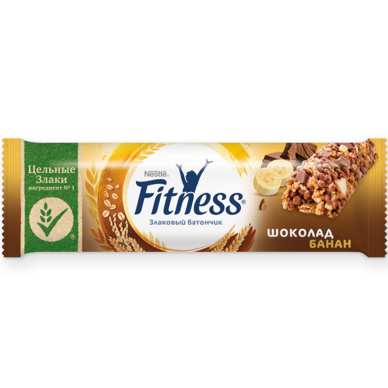 Батончик Nestle Fitness с цельными злаками и шоколадом, 23, 5 г