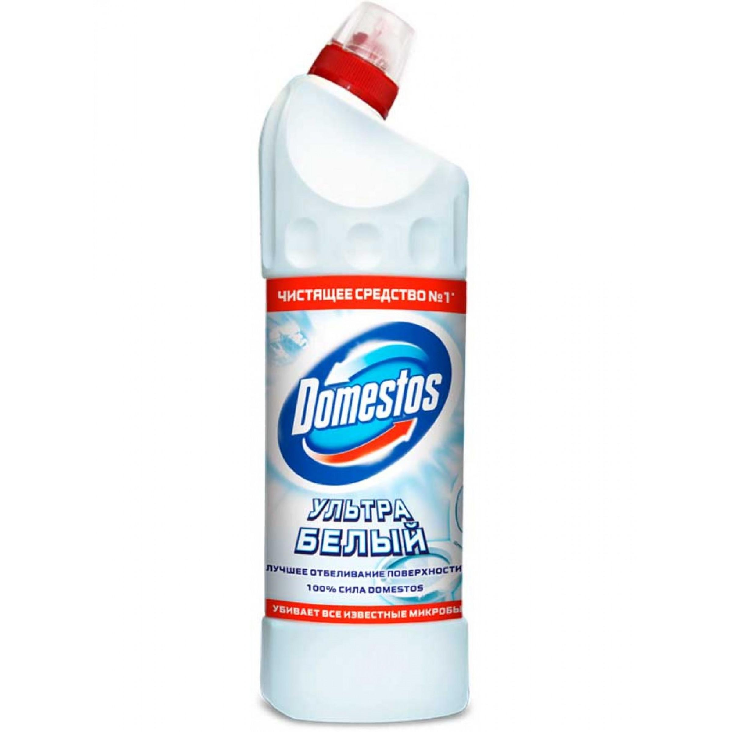Чистящее средство Domestos Эксперт сила 7 Ультра белый, 1000мл