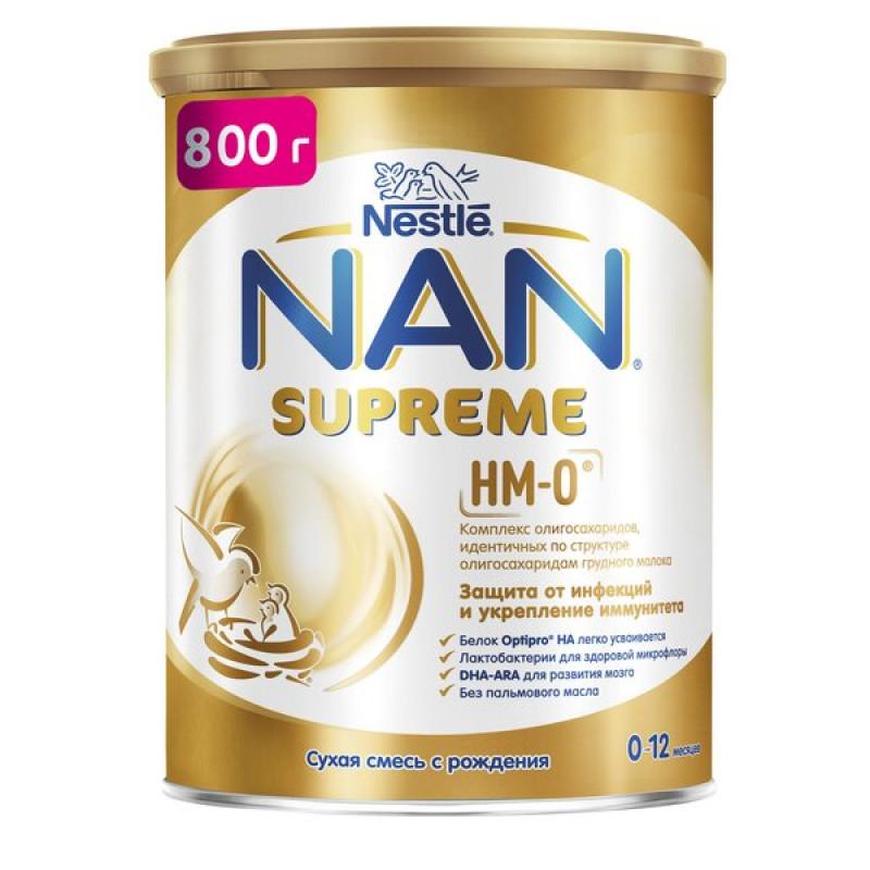 Смесь сухая NAN Supreme, на основе частично гидролизованного белка молочной сыворотки, с 0 до 12 месяцев, 800 г
