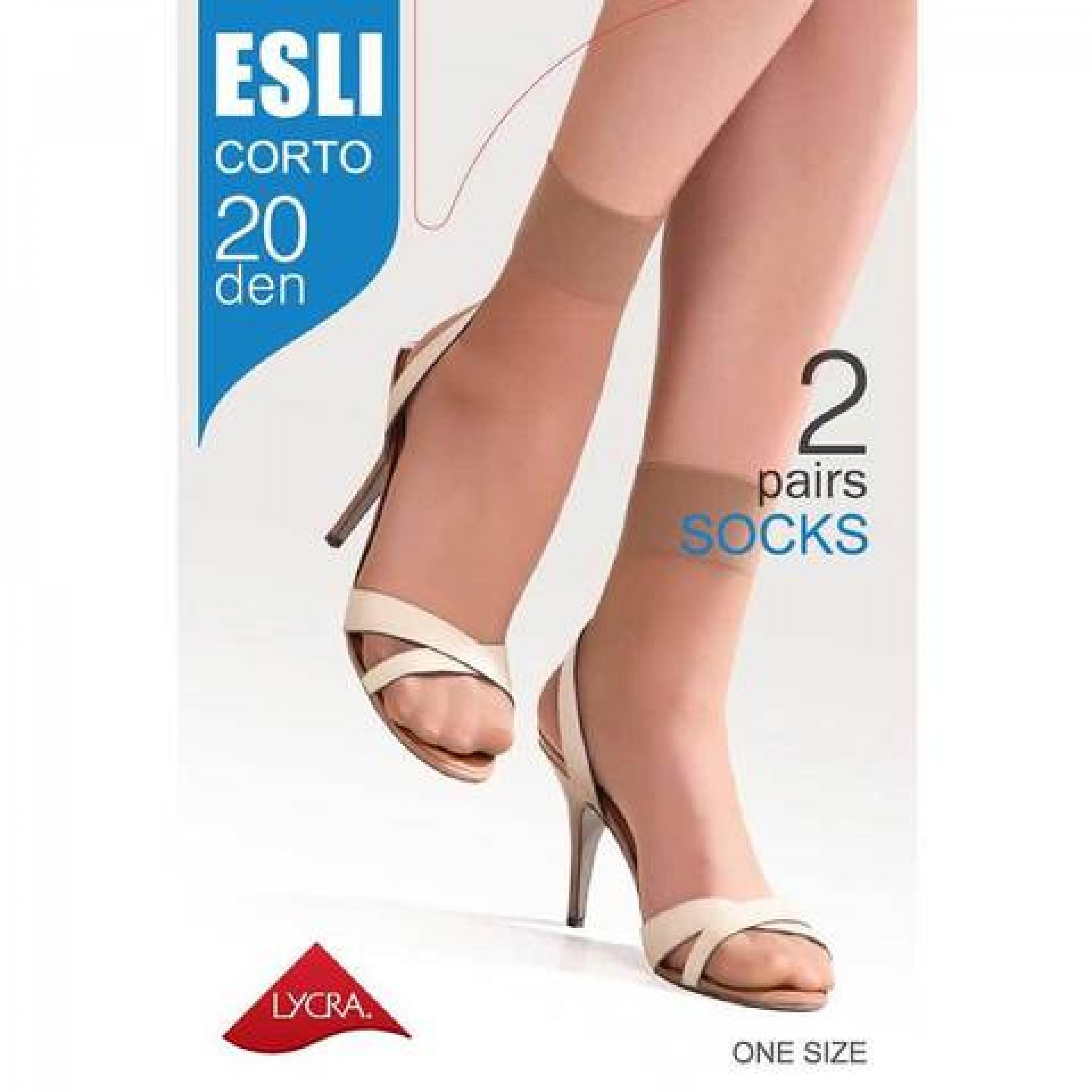 Носки женские Esli Corto, цвет melone, 20 den, 2 пары