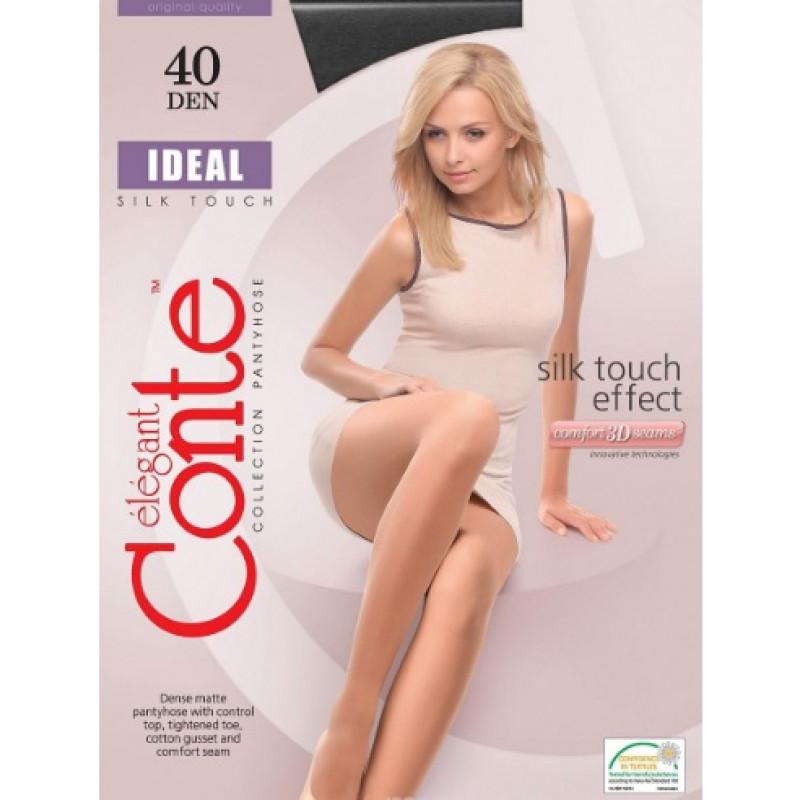 Колготки женские Conte Elegant Ideal 40, цвет: Nero (черный), размер 3