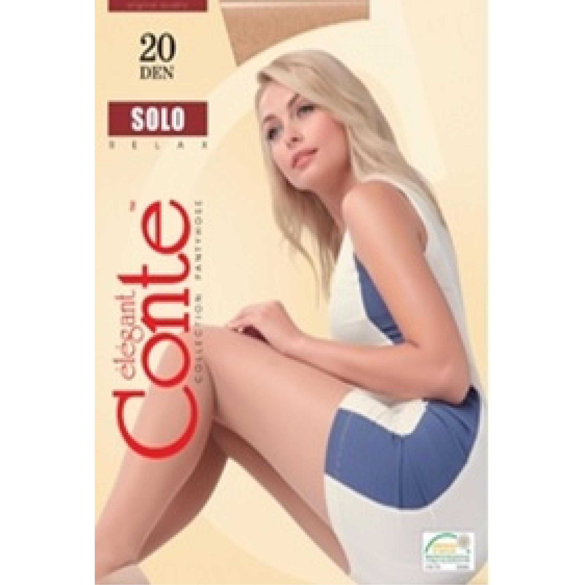 Колготки женские Conte Solo 20, цвет natural (натуральный), размер 5