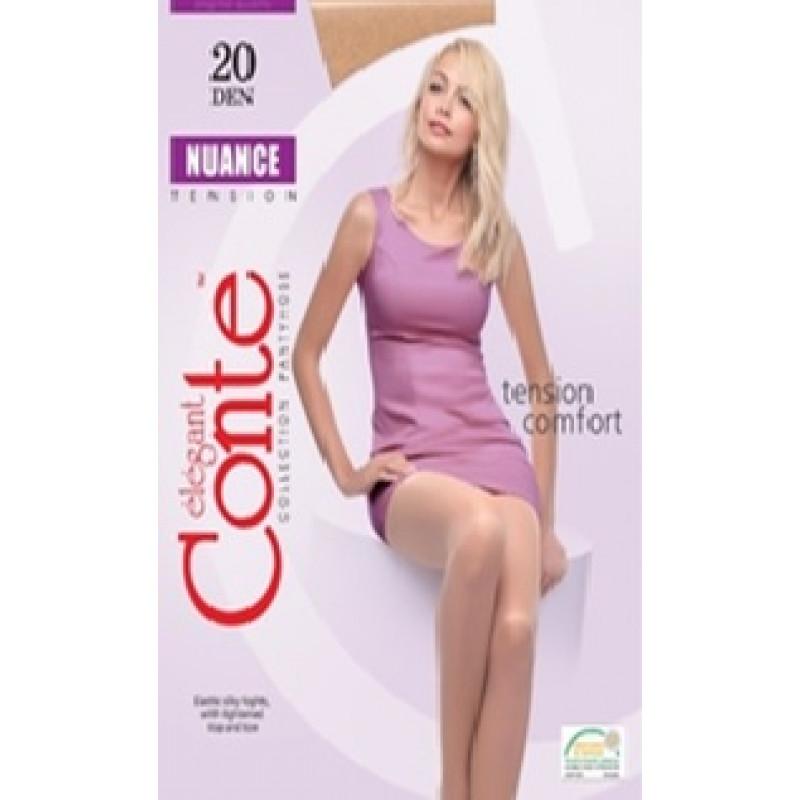Колготки женские Conte Nuance 20, цвет natural (натуральный), размер 4