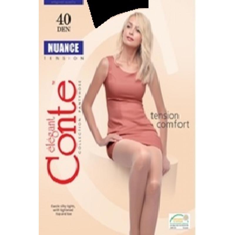 Колготки женские Conte Nuance 40, цвет nero (черный), размер 4