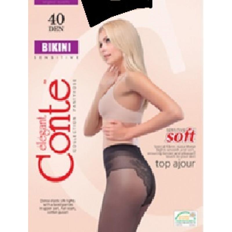 Колготки женские Conte Bikini 40, цвет nero (черный), размер 3
