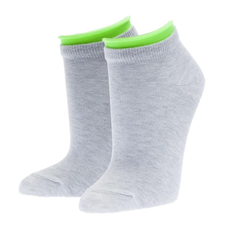 Носки женские CONTE ACTIVE хлопковые укороченные, светло-серые, размер 25
