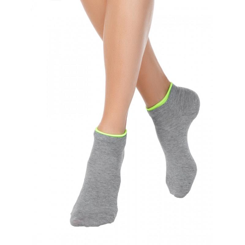 Носки женские CONTE ACTIVE хлопковые укороченные, серый, размер 25