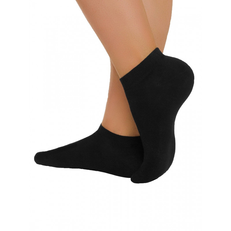 Носки женские CONTE ACTIVE хлопковые ультракороткие, черный, размер 23
