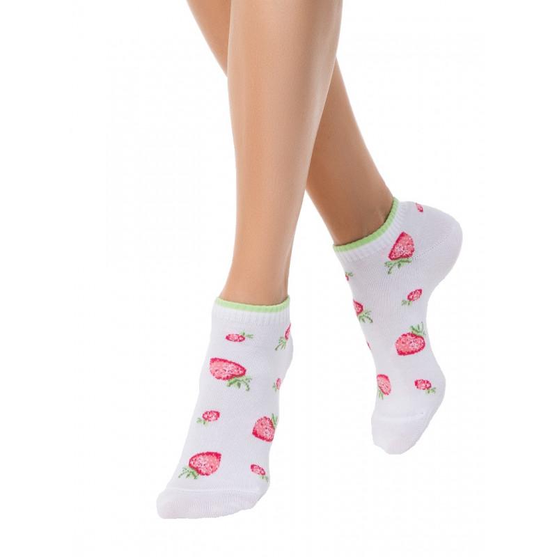 Носки женские CONTE CLASSIC короткие хлопковые с рисунками, размер 23