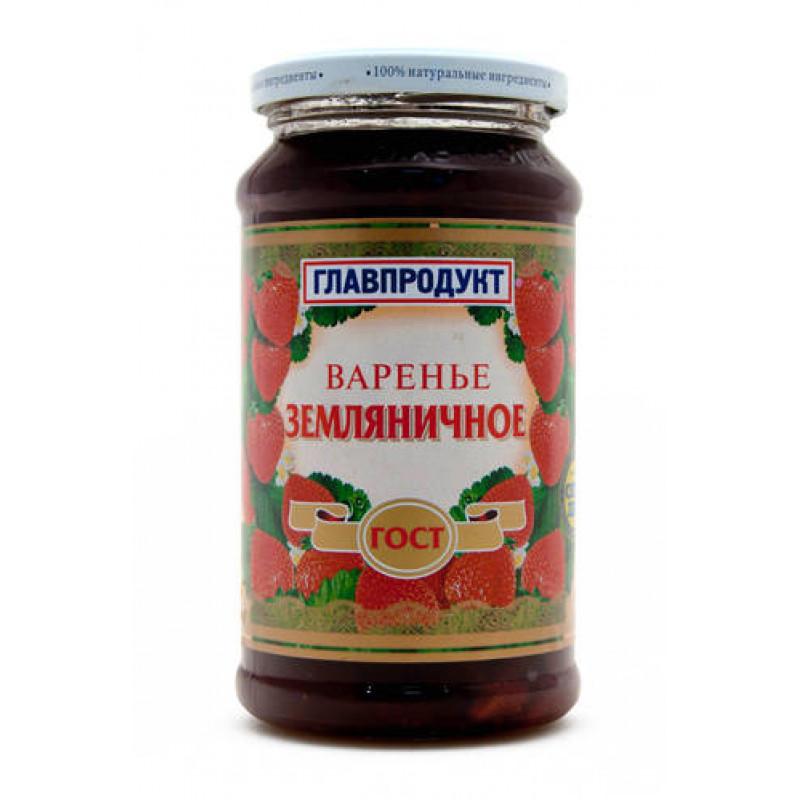 Варенье Главпродукт, земляника, 550 гр