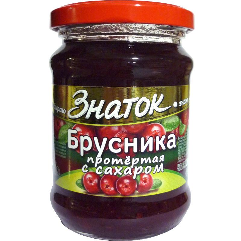 "Ягоды перетертые Знаток ""Брусника"", 280 г"