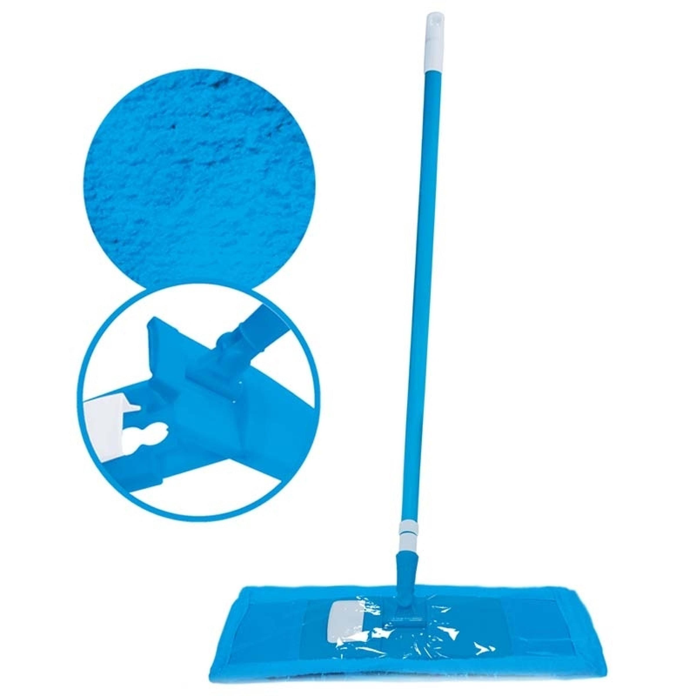 Швабра Dora для пола с телескопической ручкой с насадкой микрофибра, 1 шт