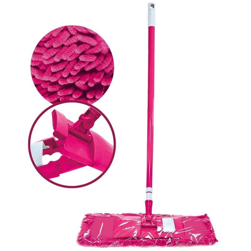 Швабра Malibri Dora для пола с телескопической ручкой с насадкой микрофибра шенилл