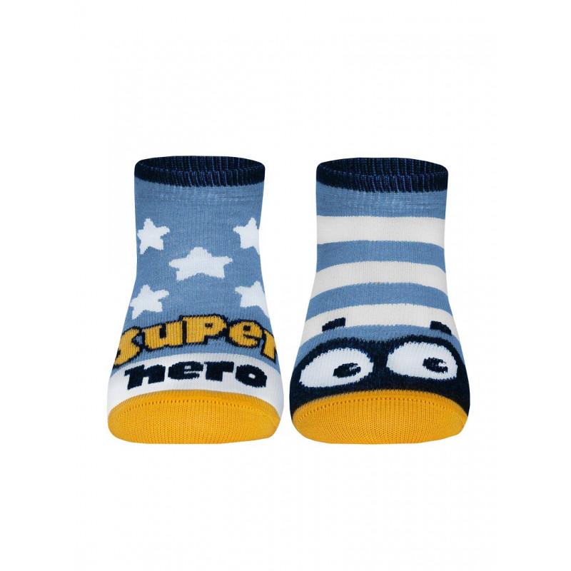 Носки детские CONTE TIP-TOP Весёлые ножки, голубой, размер 14