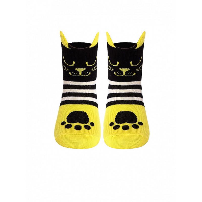 Носки детские CONTE TIP-TOP Мордашки «Котята», размер 21-23