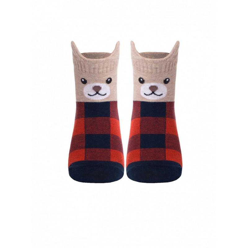 Носки детские CONTE TIP-TOP Мордашки «Медвежата», размер 18-20