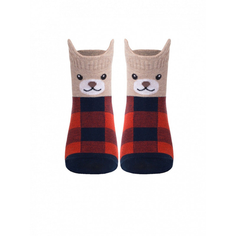 Носки детские CONTE TIP-TOP Мордашки «Медвежата», размер 21-23