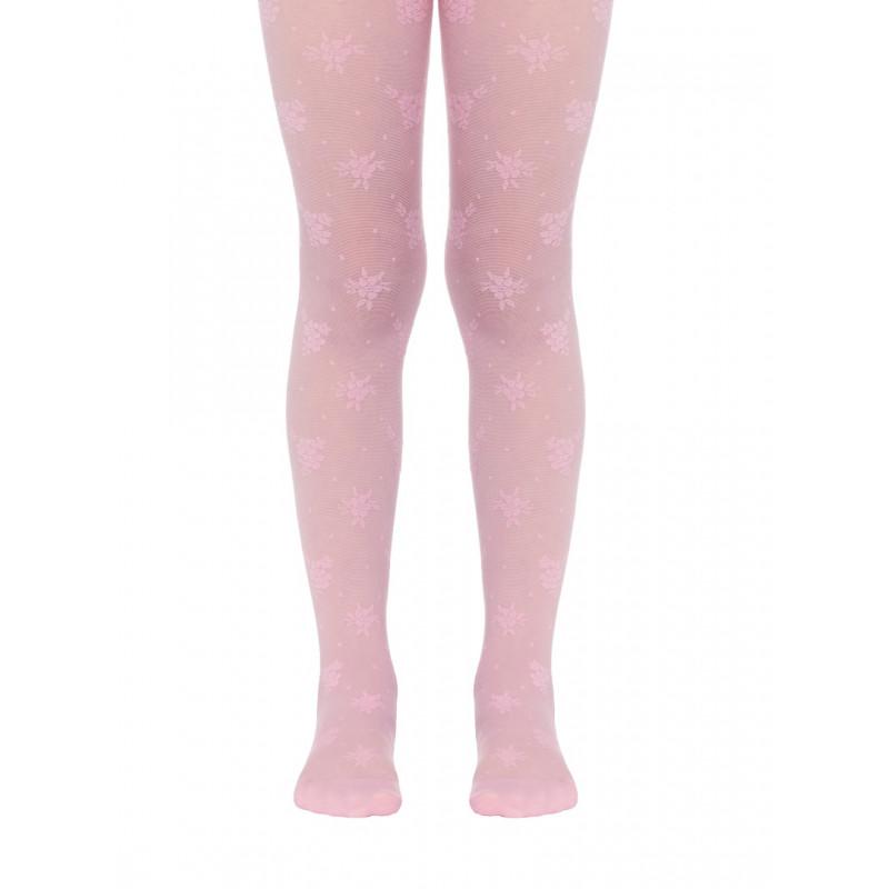 Колготки детские Conte Lucia полиамидные нарядные, 20 den, размер 116-122, pink