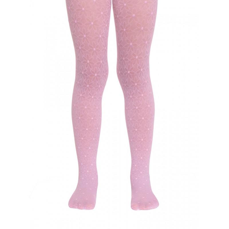 Колготки детские Conte Jasmine полиамидные нарядные, 20 den, размер 116-122, pink
