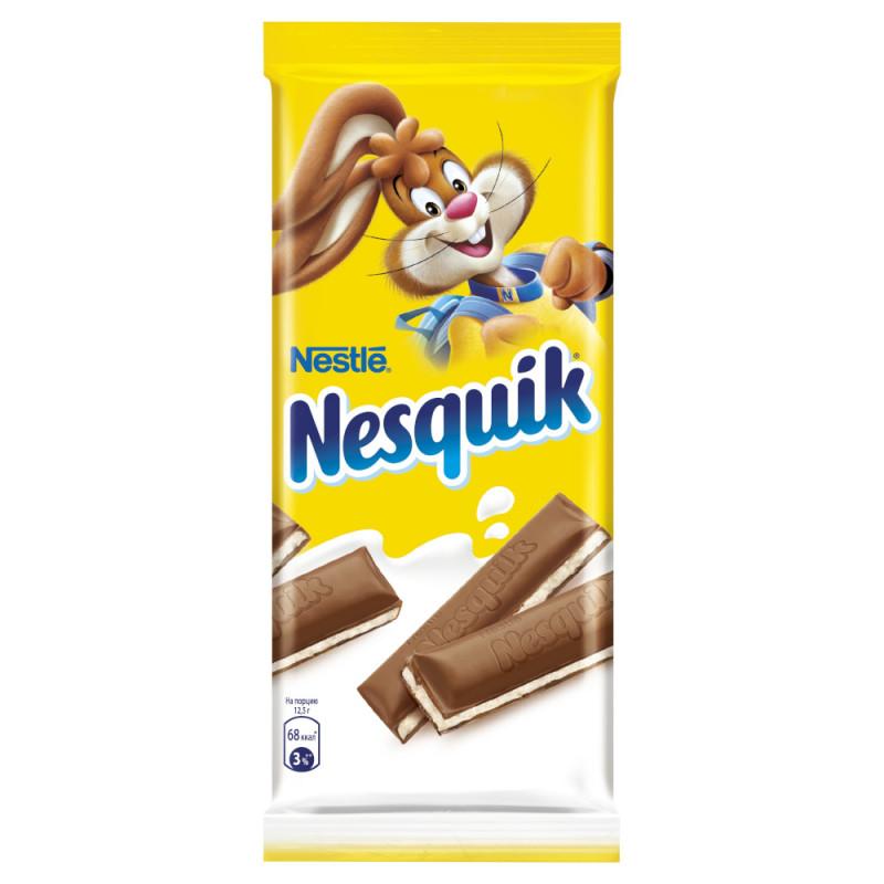 Шоколад Nesquik с молочной начинкой, 100г