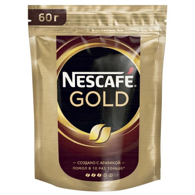 Кофе Nescafe Gold Doy, растворимый, сублимированный, 60г