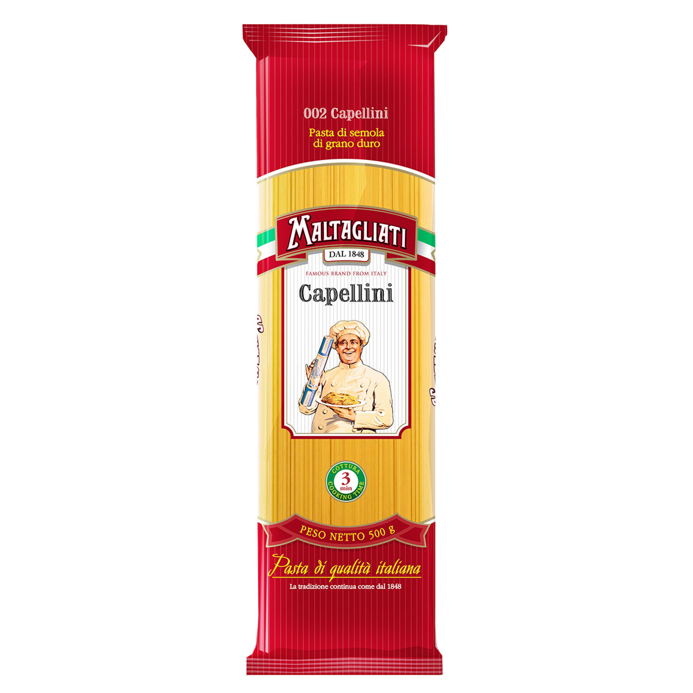 Спагетти capellini Maltagliati №2, 500г