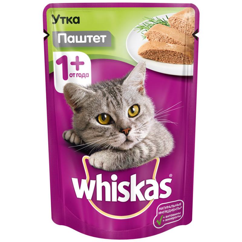 Корм для кошек Whiskas, паштет утка, 85 г