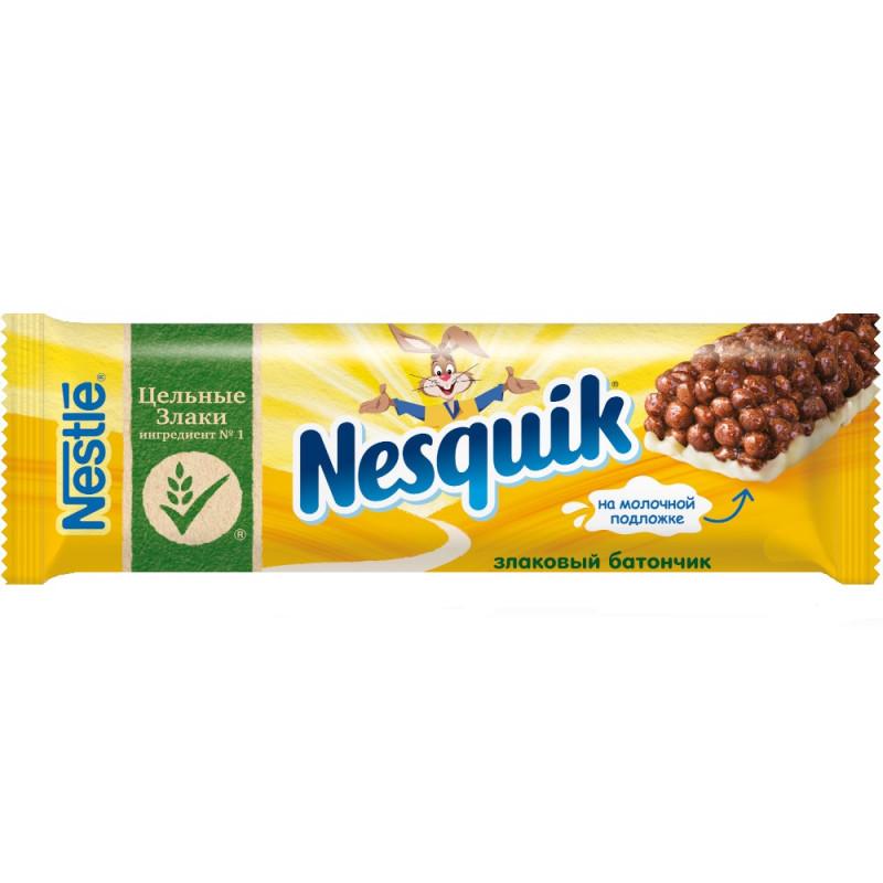 Батончик Nestle Nesquik c цельными злаками шоколадный, 25г
