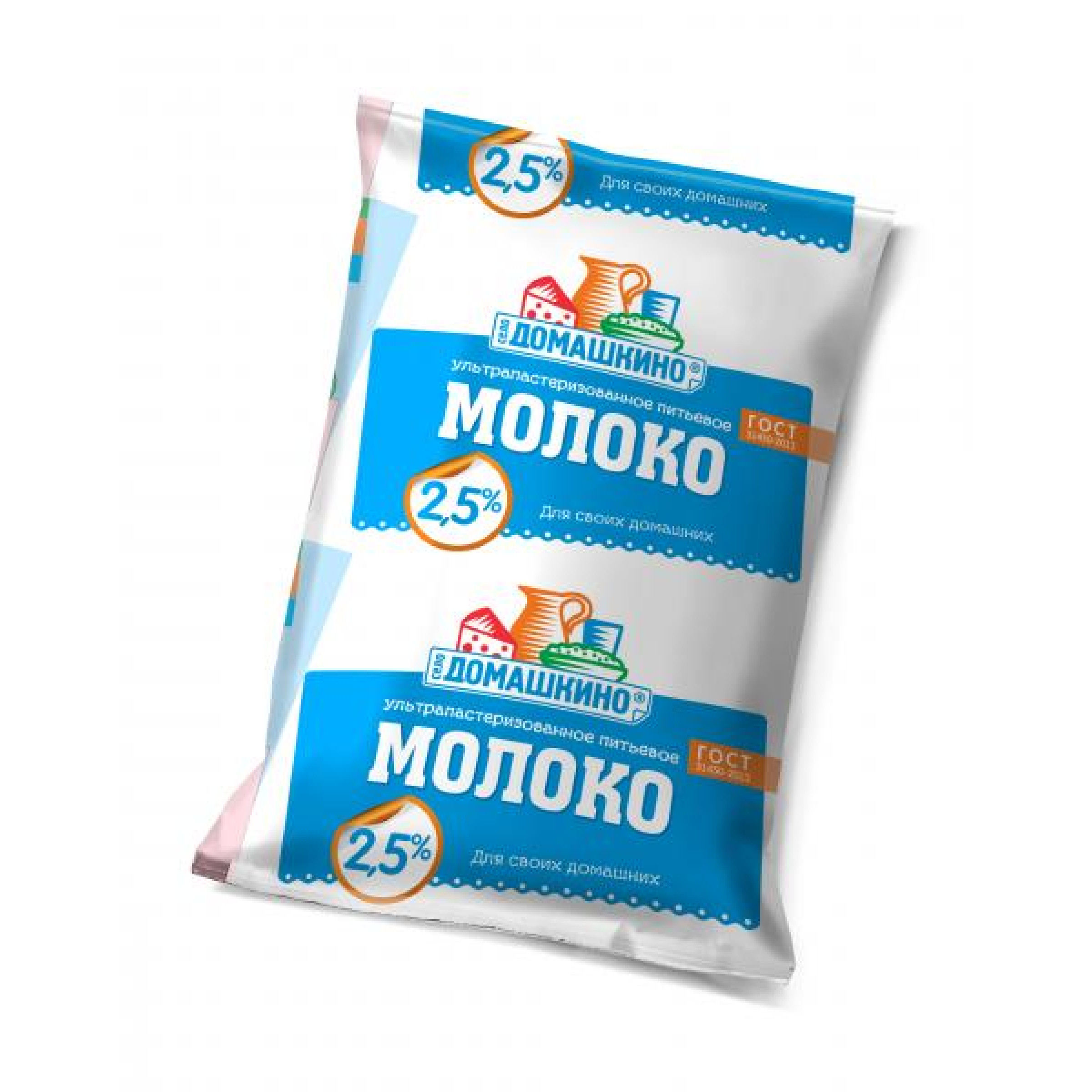 """Молоко """"Село Домашкино"""" 2, 5%, 900гр."""
