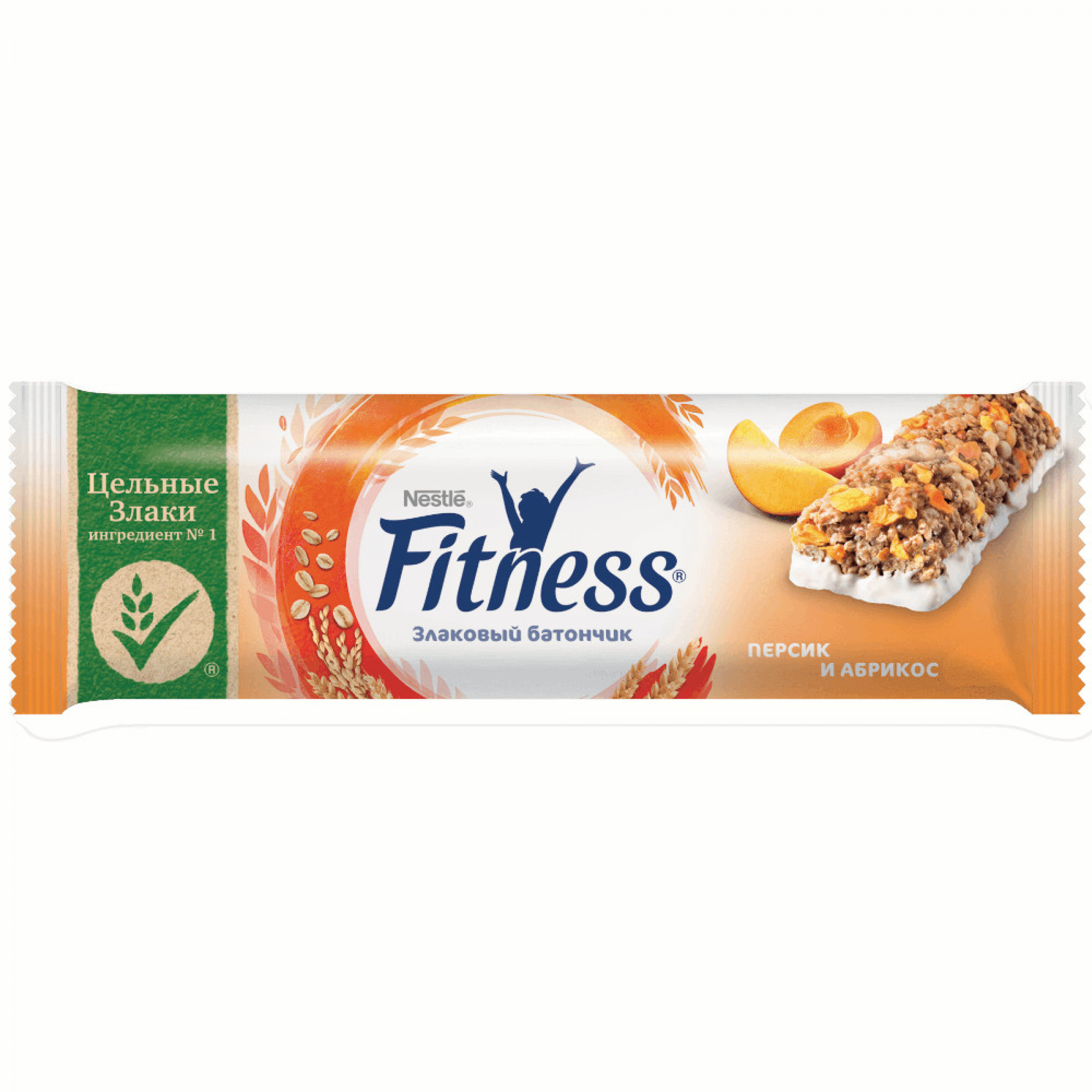 """Злаковый батончик персик и абрикос """"Fitness"""", 23. 5гр"""