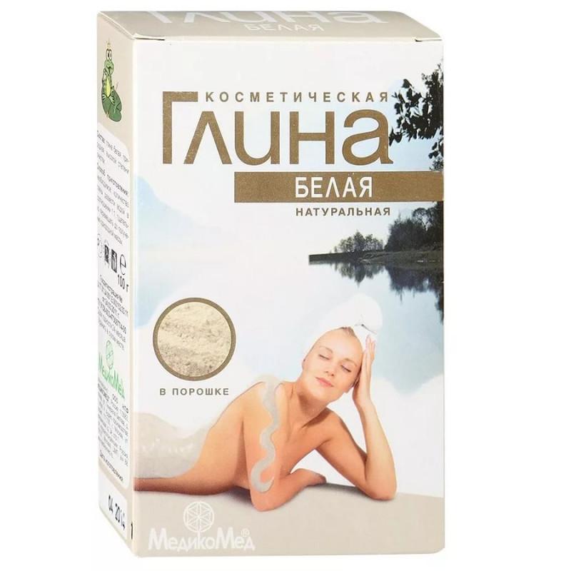 Глина Белая косметическая порошок, 100 гр