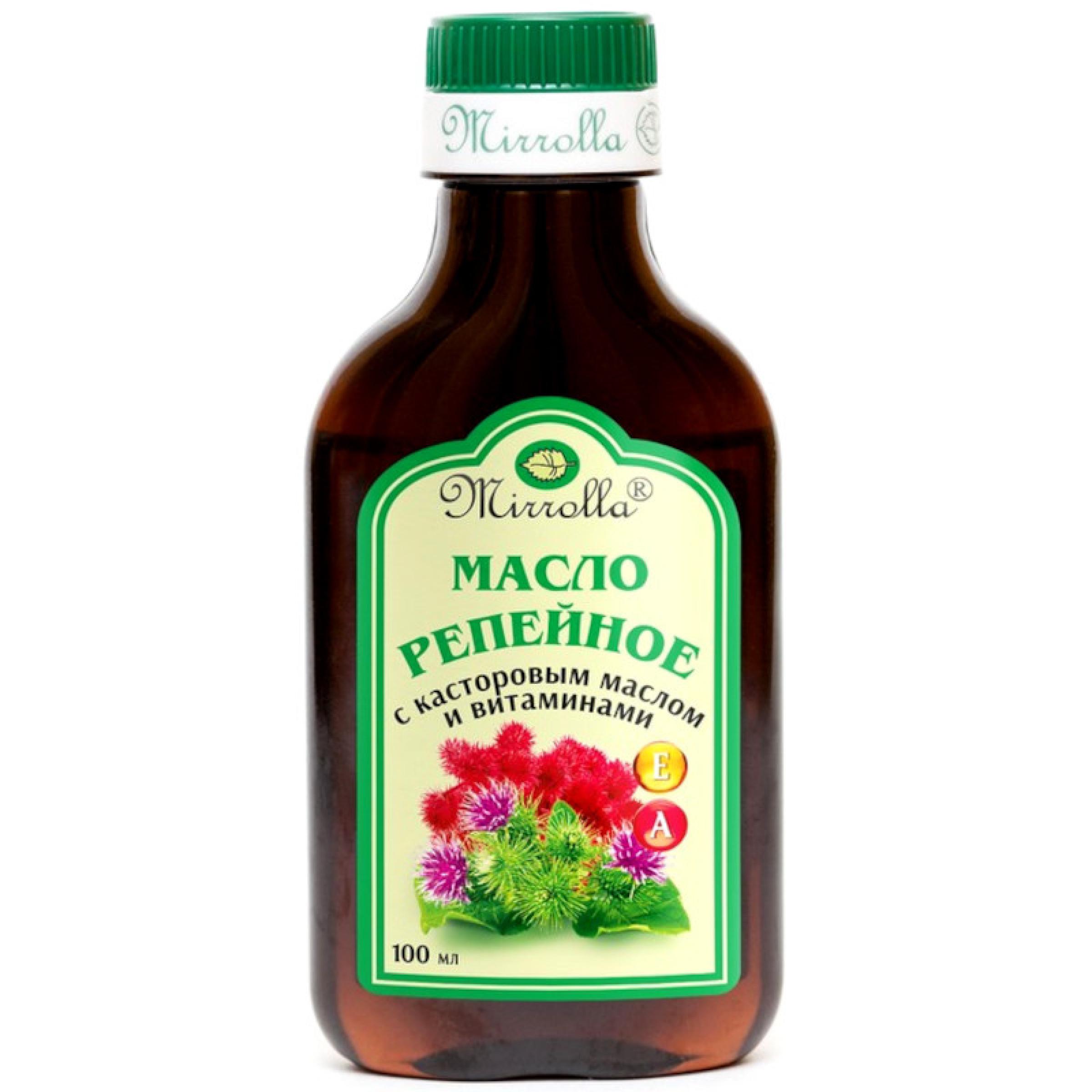 Масло Mirolla репейное с касторовым маслом и витаминами, 100мл