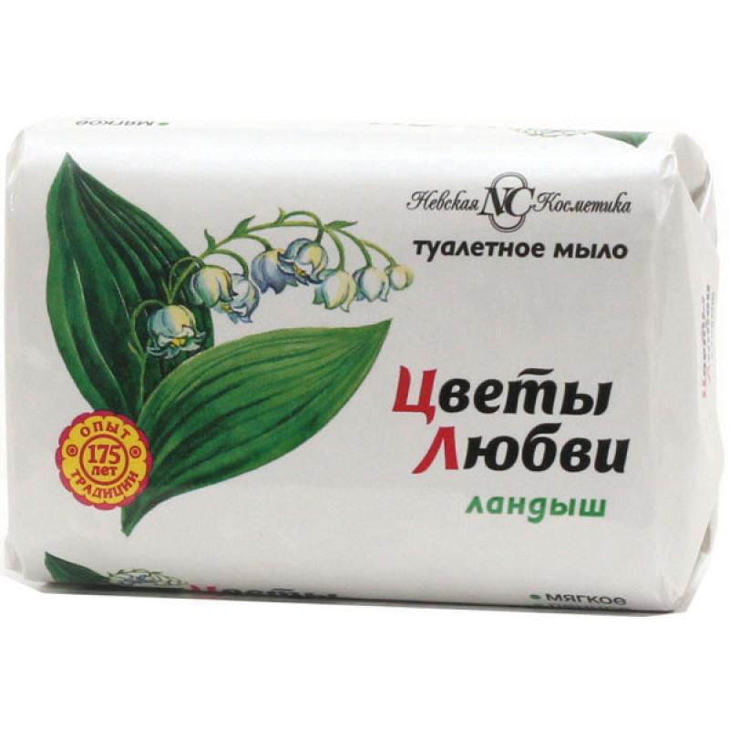 """Мыло Невская Косметика """"Цветы любви"""" Ландыш, 90г"""