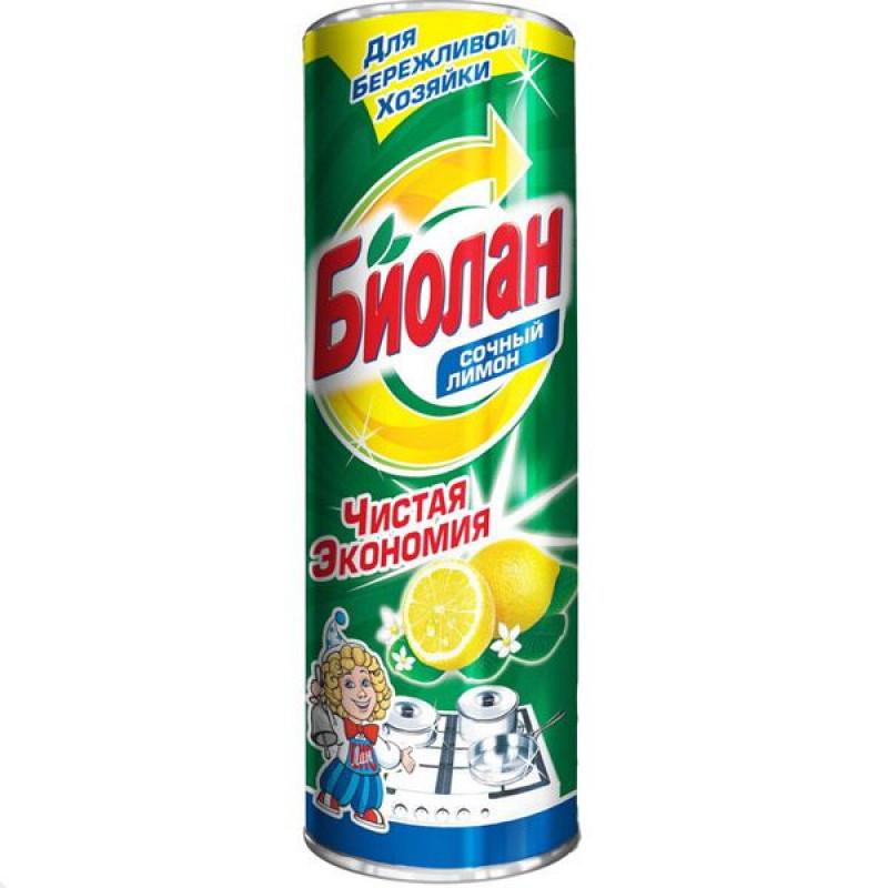 """Чистящее средство Биолан """"Сочный лимон"""", порошкообразное, 400 г"""