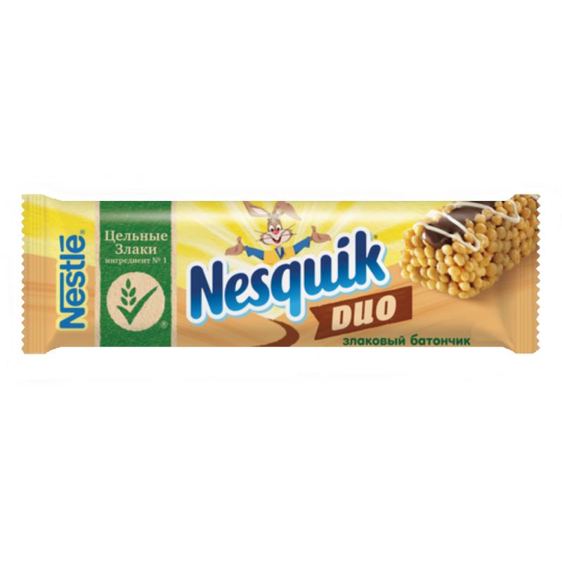Батончик Nesquik DUO с цельными злаками, 23г