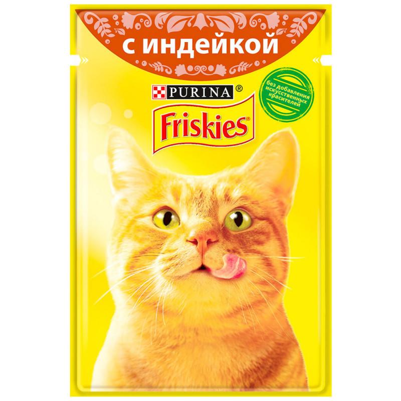 Влажный корм для кошек Friskies, полнорационный, с индейкой, 85г