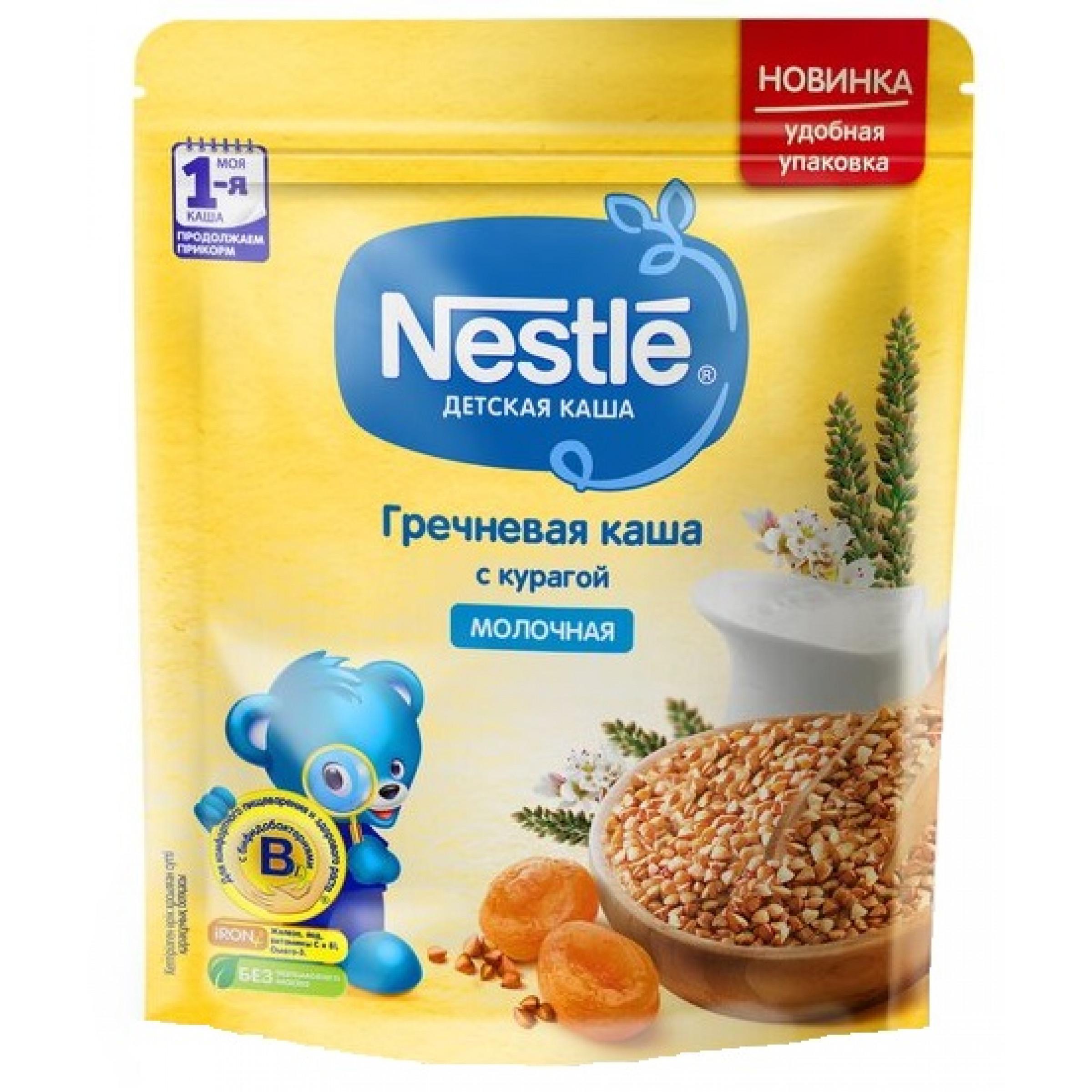 Каша сухая молочная гречневая с курагой Nestle, 220 гр