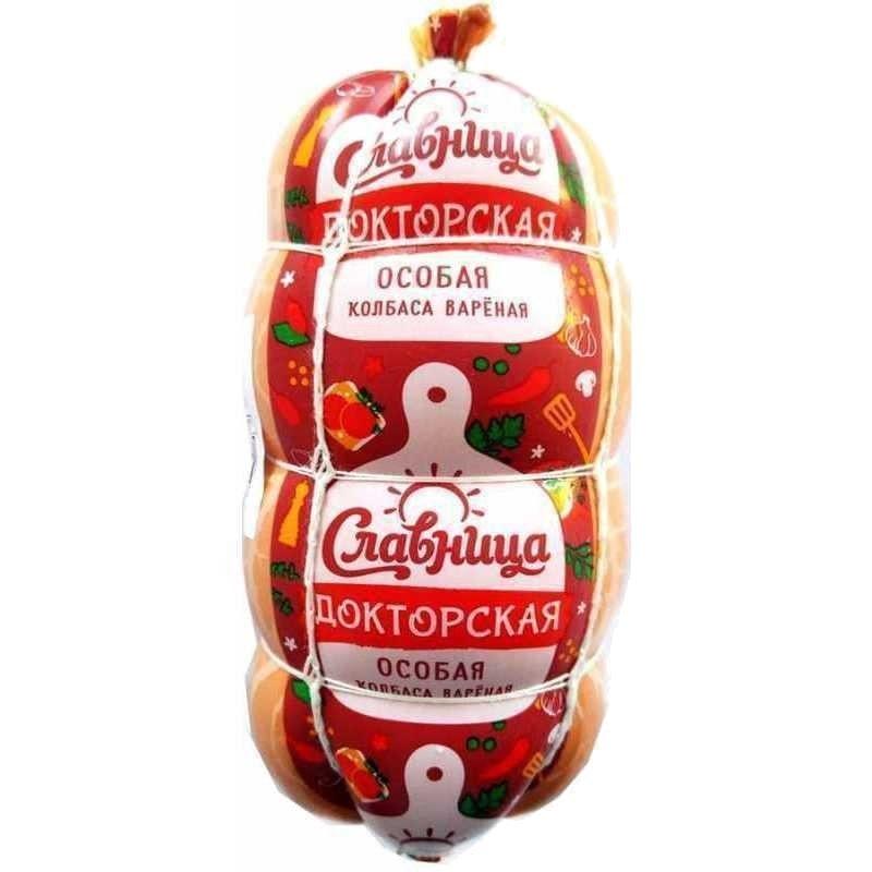 """Колбаса вареная """"Докторская Особая"""" Славница, вес 500гр"""